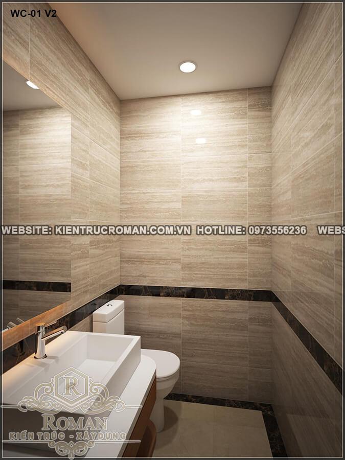 phòng tắm thiết kế nhà ống 4 tầng