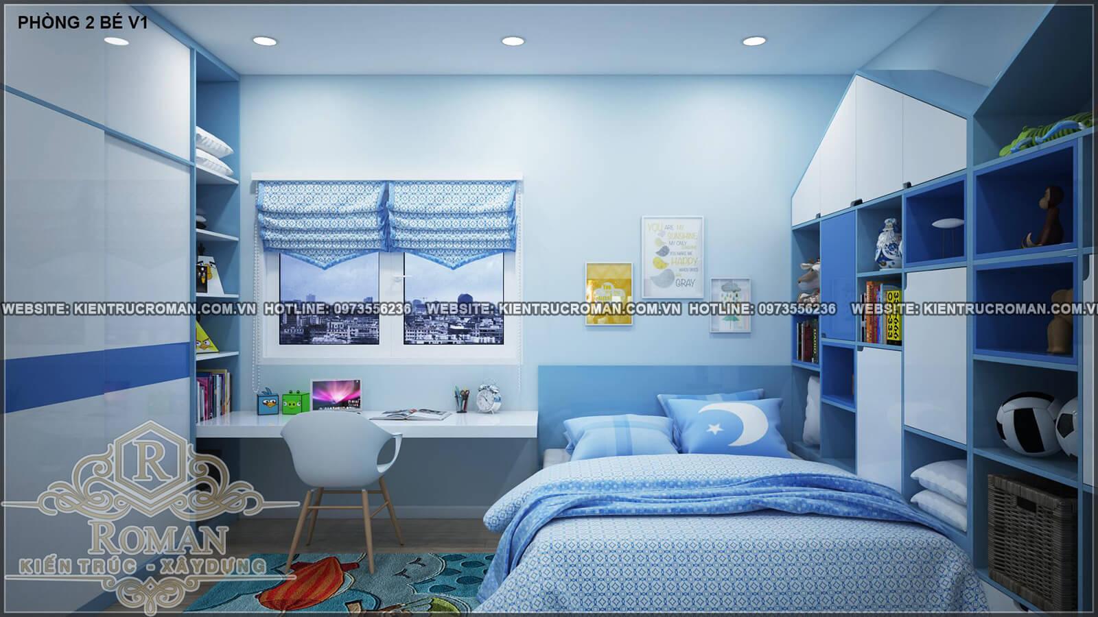 phòng ngủ của bé thiết kế nhà ống 4 tầng