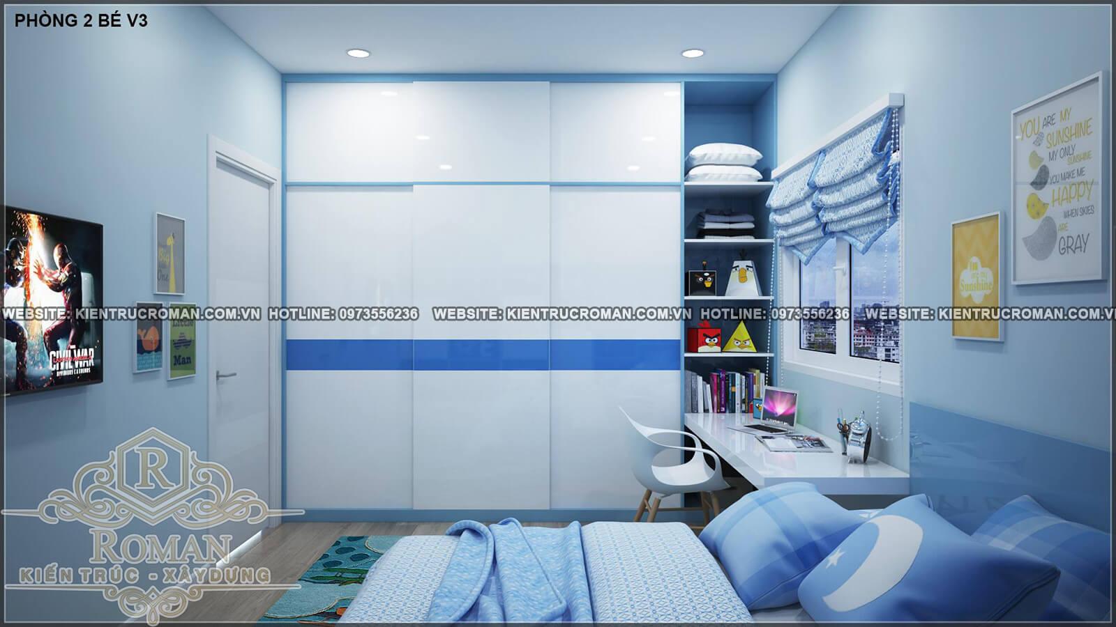 phòng ngủ bé thiết kế nhà ống 4 tầng