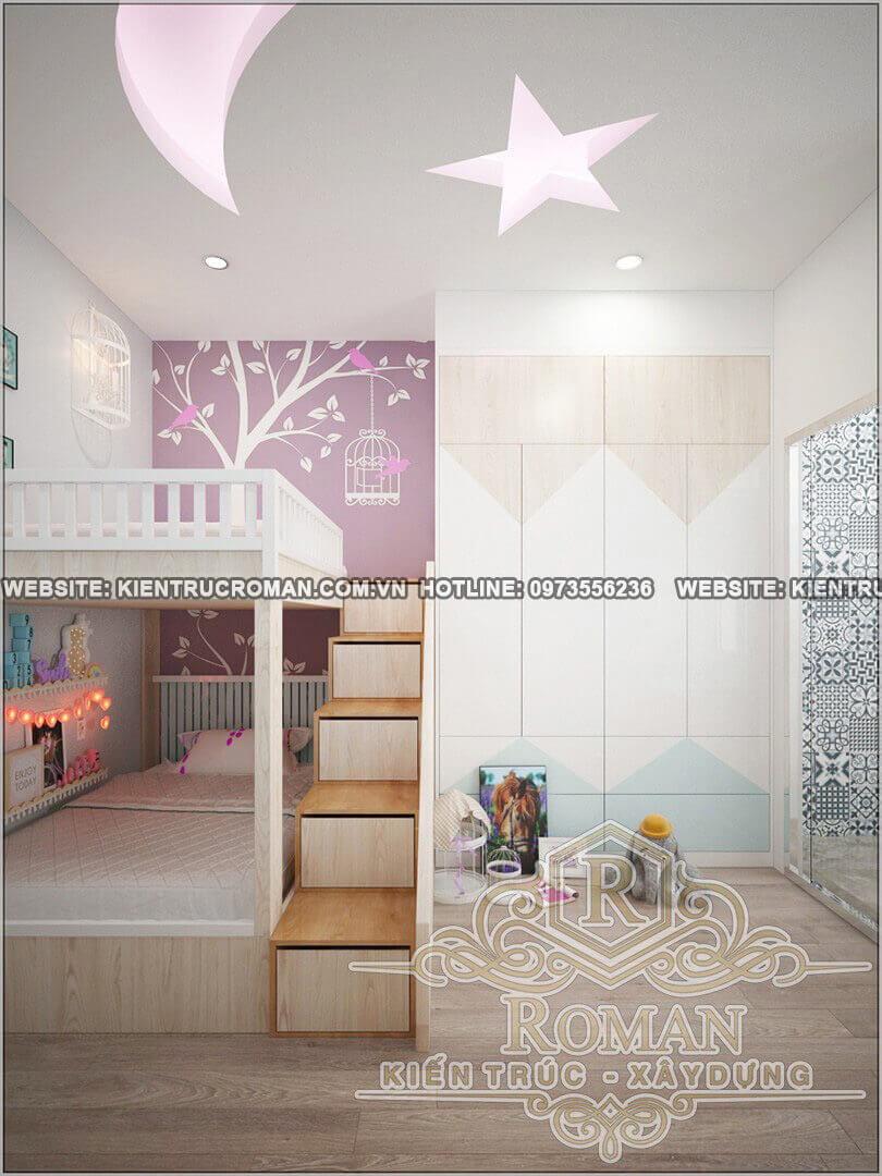 phòng ngủ của bé thiết kế nhà ống 5 tầng