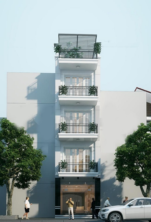 Thiết kế nhà ống có thang máy đẹp 2