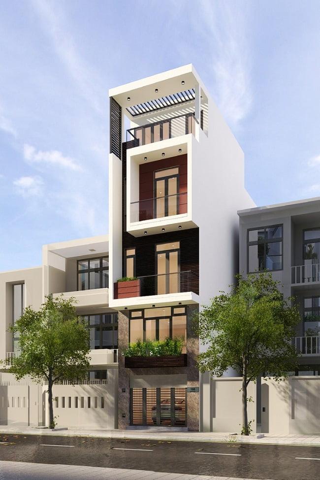 thiết kế nhà phố 4 tầng 50m2 2