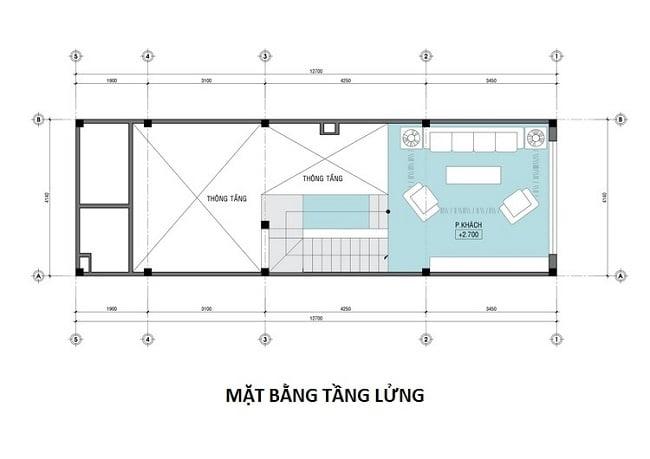 thiết kế nhà phố 4 tầng 50m2