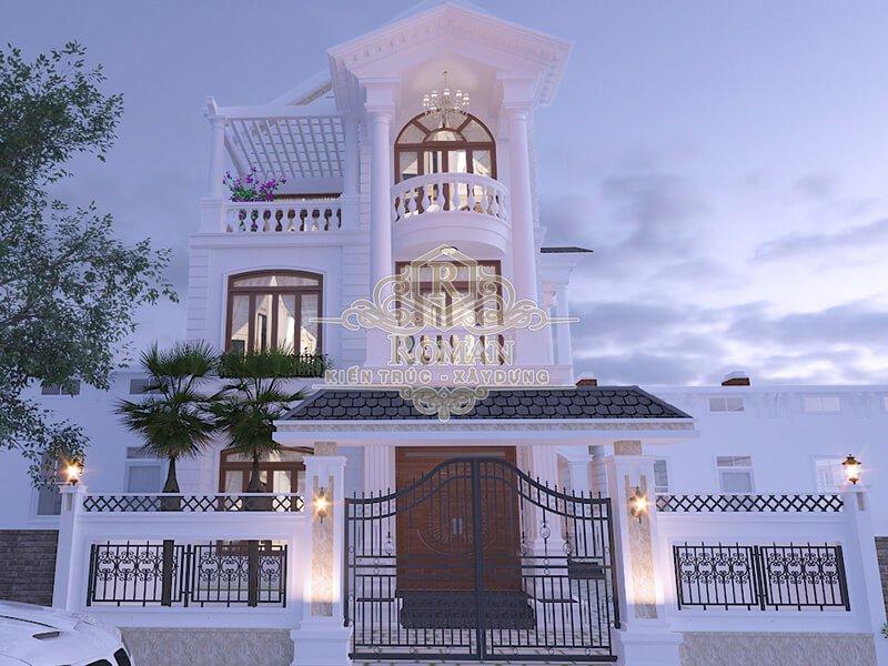 thiết kế nhà phố bán cổ điển đẹp