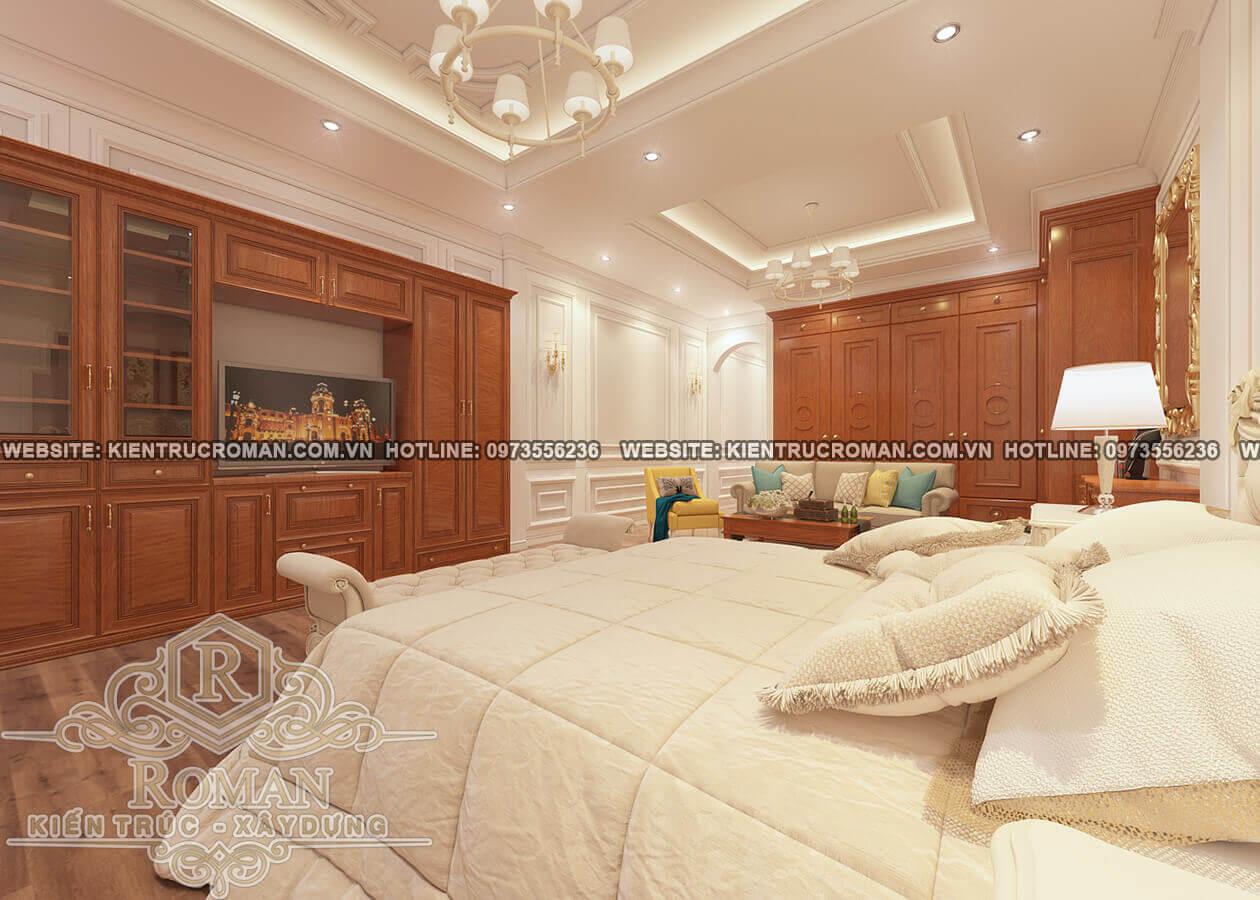 phòng ngủ thiết kế nhà phố cổ điển