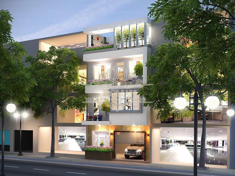 thiết kế nhà phố có gara để xe tiện lợi