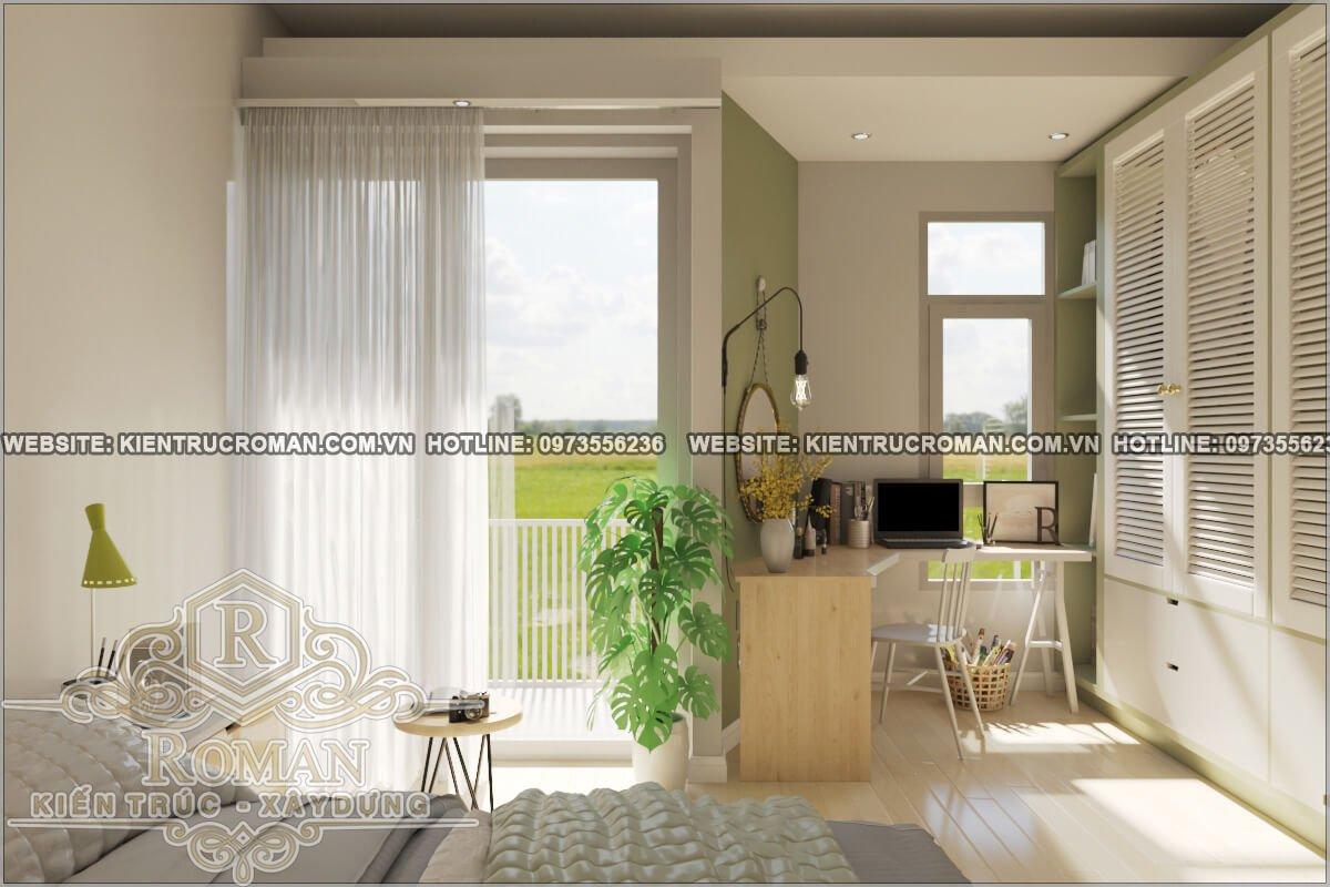 phòng ngủ thiết kế nhà phố liền kề