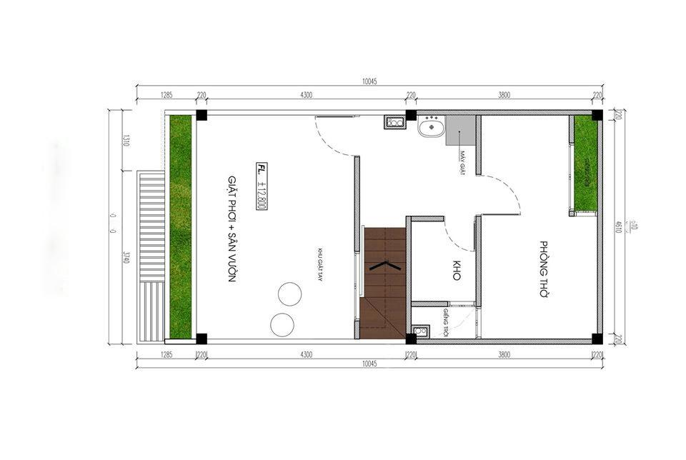 thiết kế nhà phố rộng 6m 6
