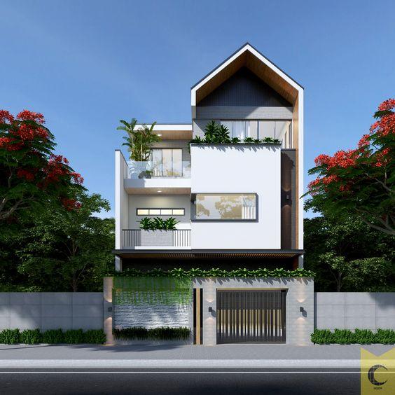 thiết kế nhà phố rộng 7m 8