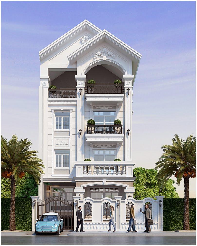 thiết kế nhà phố rộng 7m 10