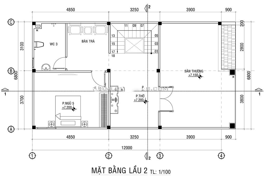thiết kế nhà phố rộng 7m 17