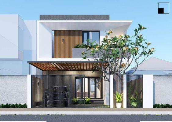 thiết kế nhà phố rộng 7m 4