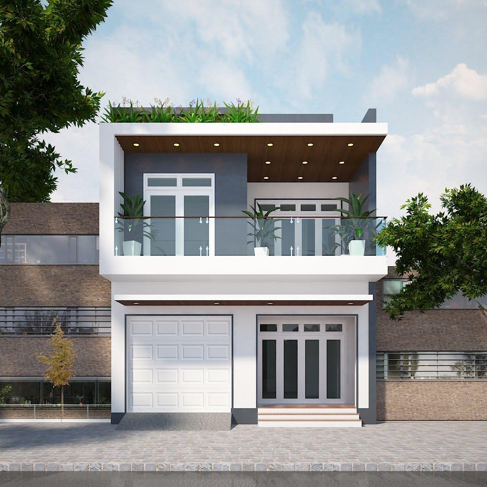 thiết kế nhà phố rộng 7m 5
