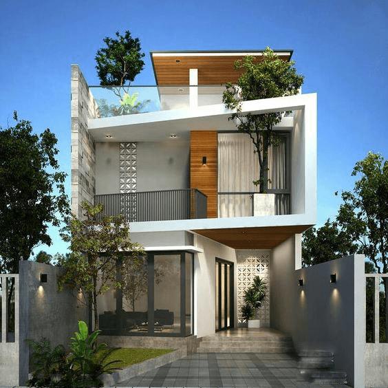 thiết kế nhà phố rộng 7m 11