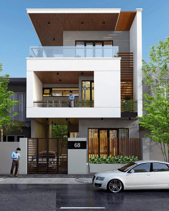 thiết kế nhà phố rộng 7m 12