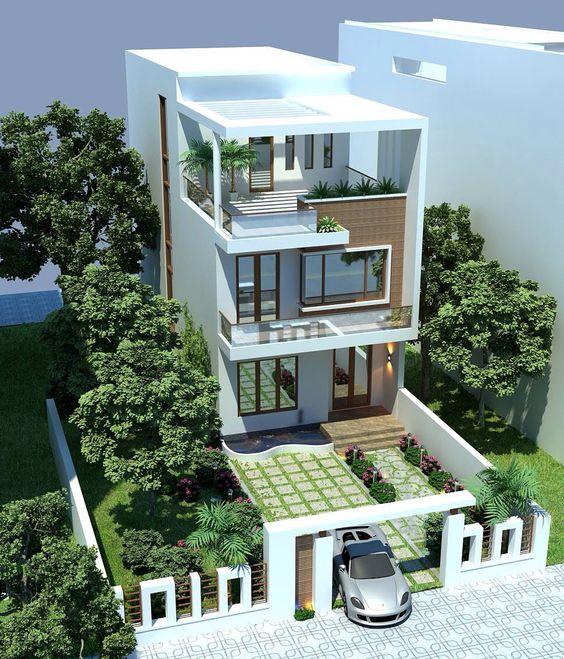thiết kế nhà phố rộng 7m 7
