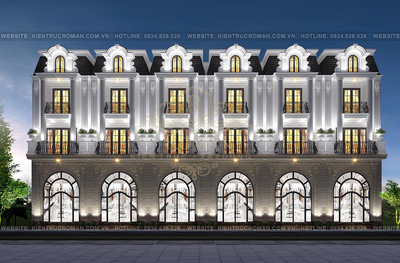 thiết kế nhà phố thương mại phối cảnh