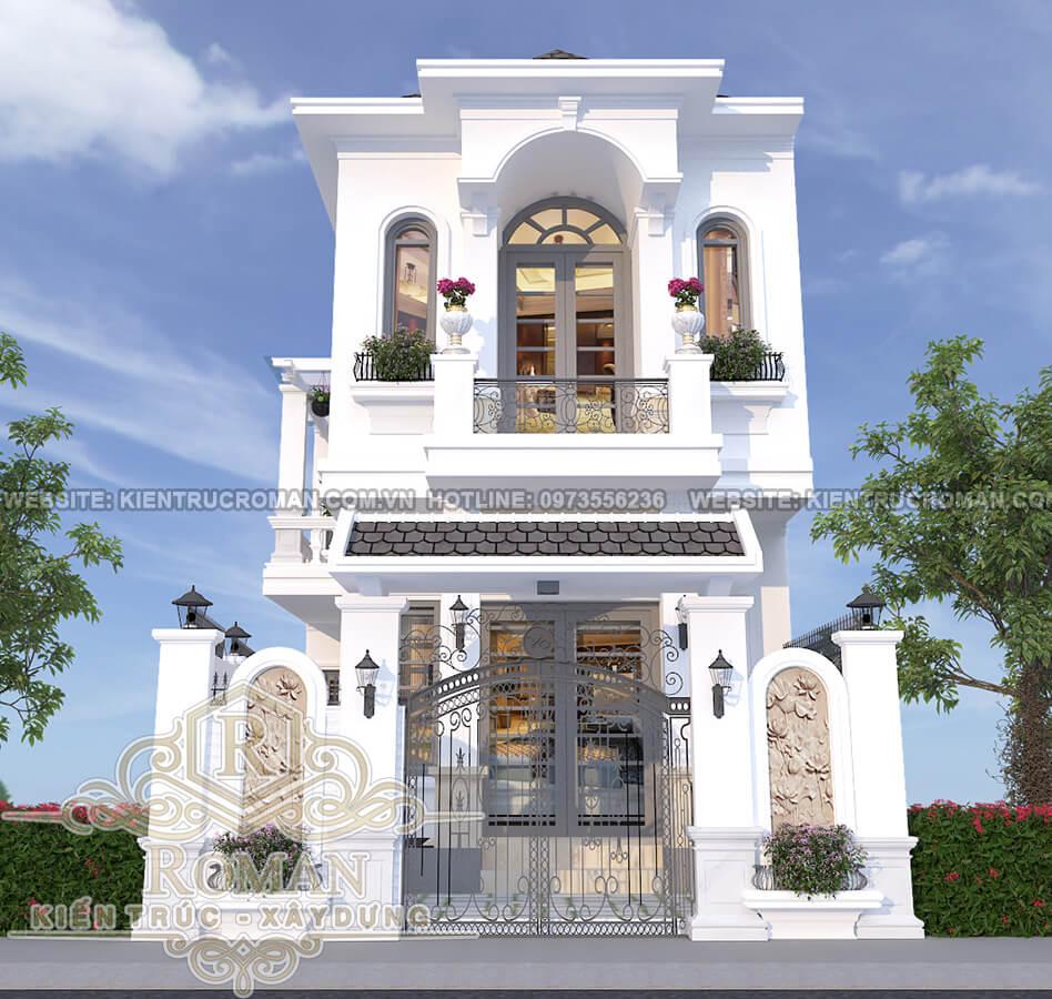 mặt tiền thiết kế nhà tân cổ điển 2 tầng 2