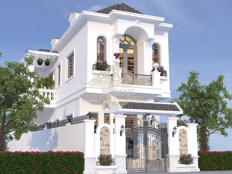 thiết kế nhà tân cổ điển 2 tầng đẹp tại quận thủ đức