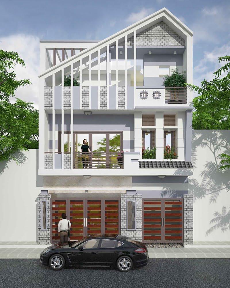 thiết kế nhà vuông 8x9m 1