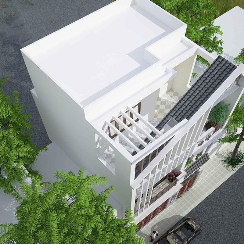 thiết kế nhà vuông 8x9m 5