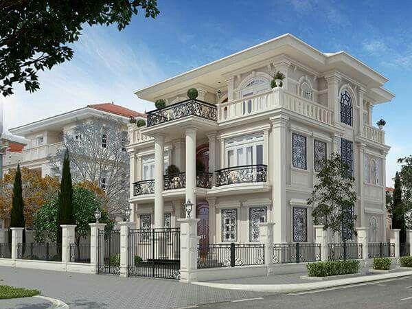 mặt bằng thiết kế nội thất biệt thự cổ điển 3 tầng