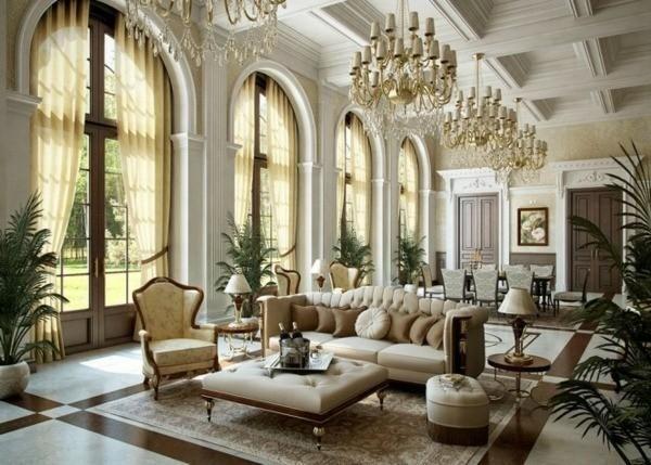 phòng khách thiết kế nội thất biệt thự cổ điển 3 tầng