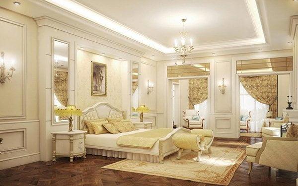 phòng ngủ thiết kế nội thất biệt thự cổ điển 3 tầng
