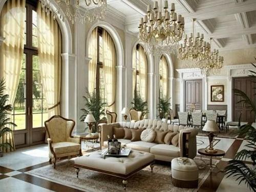 thiết kế nội thất biệt thự cổ điển 3 tầng đẹp