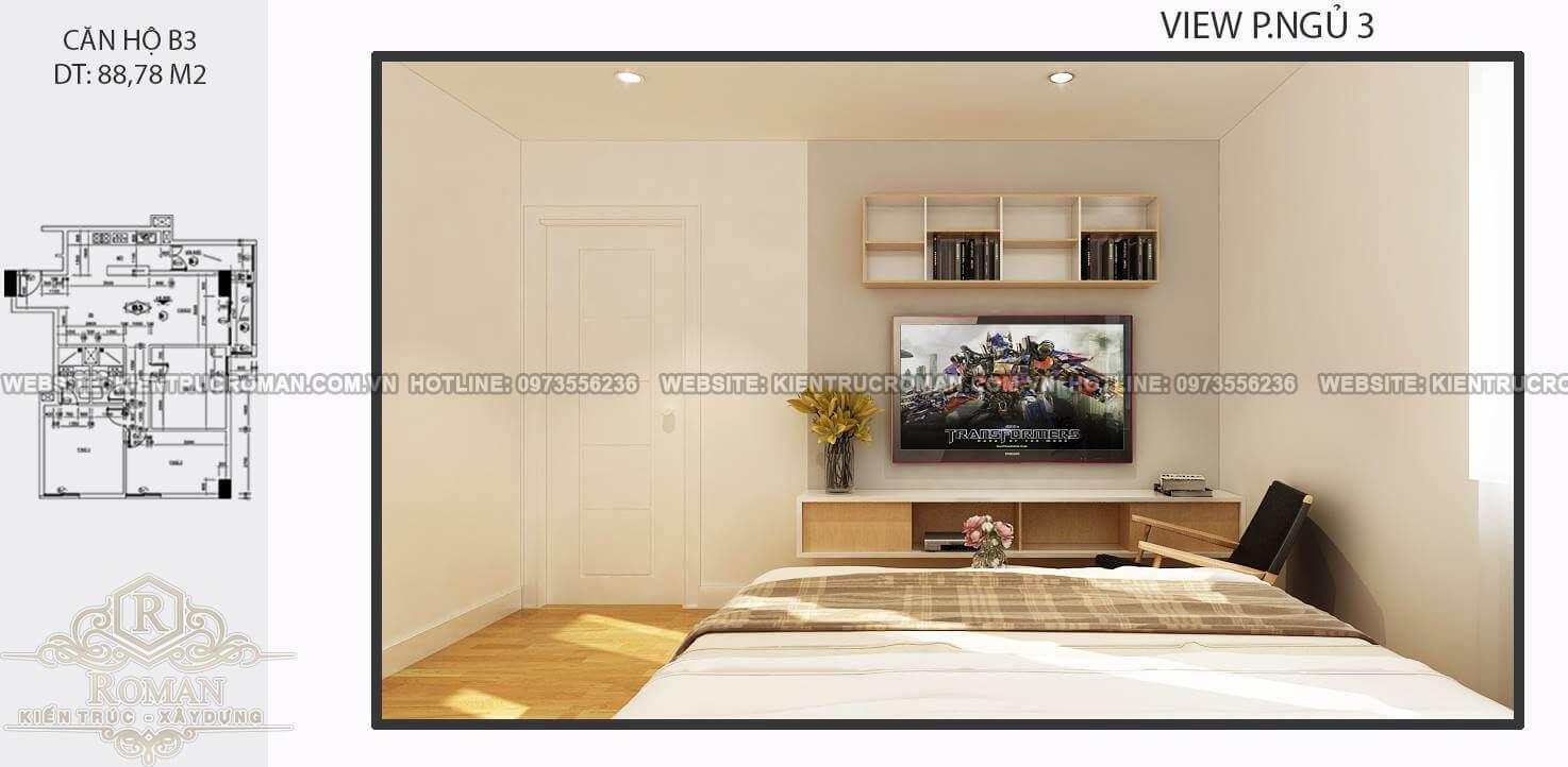 phòng ngủ thiết kế nội thất căn hộ 80m2