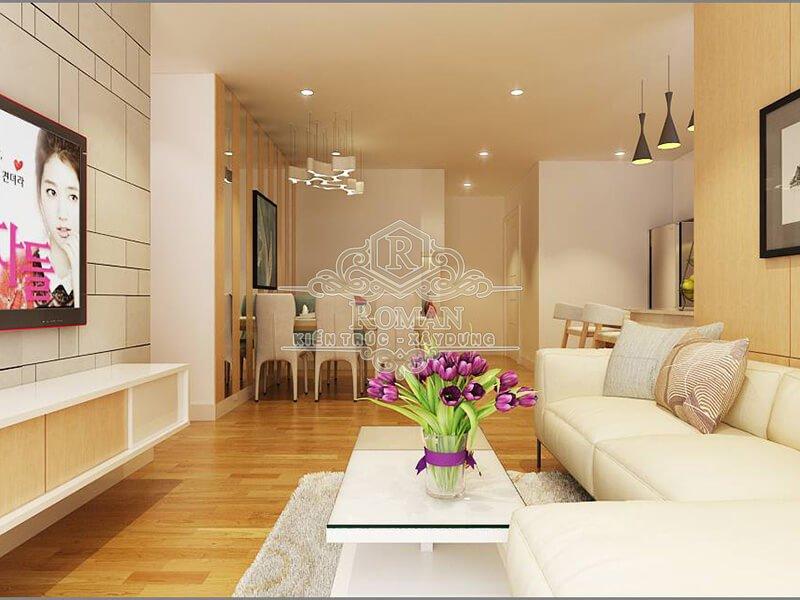 thiết kế nội thất căn hộ 80m2 3 phòng ngủ