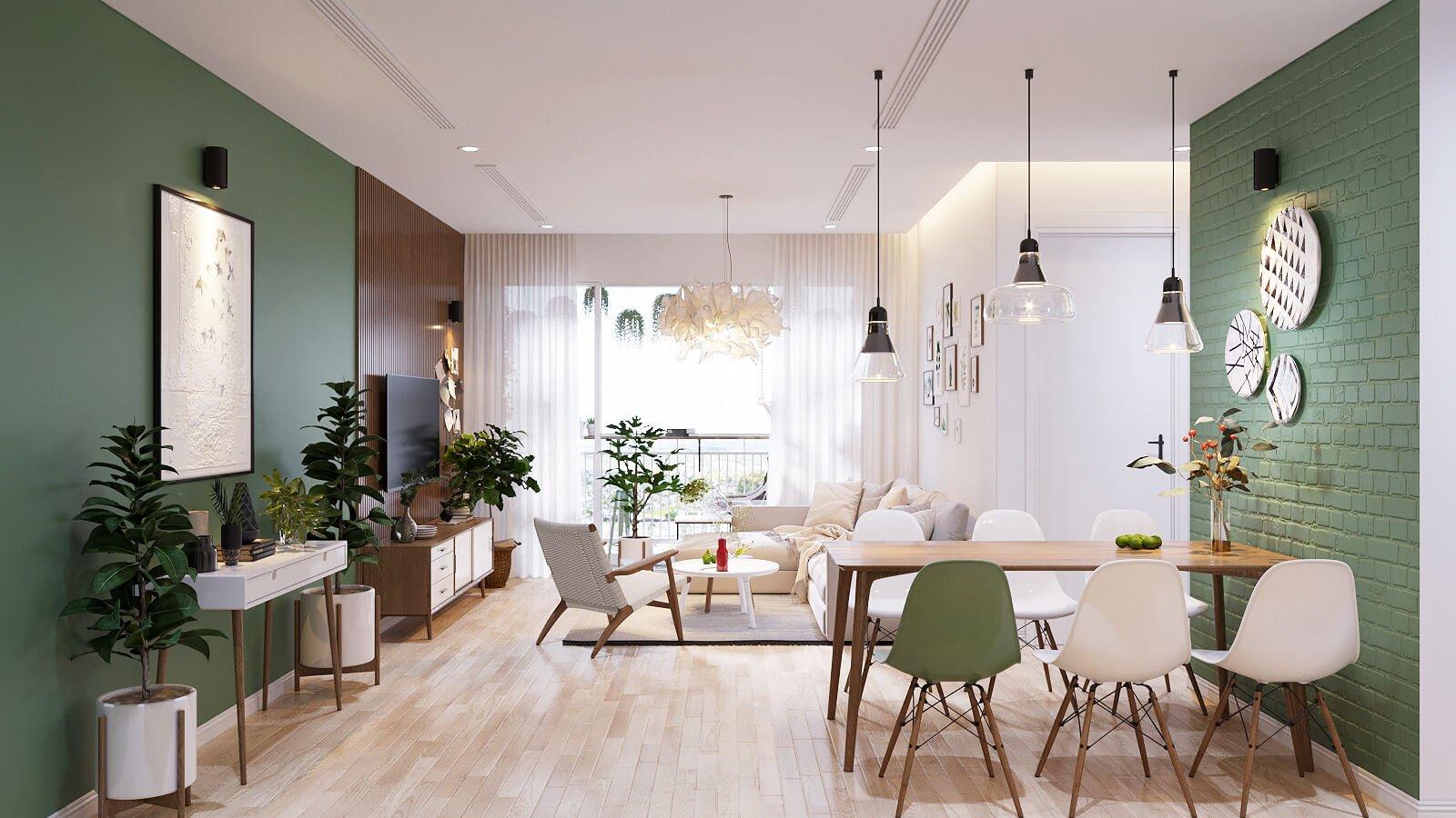 thiết kế nội thất căn hộ chung cư 70m2 1