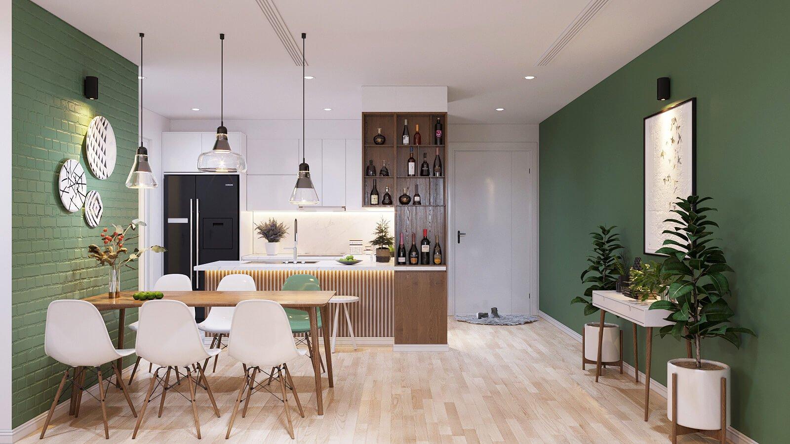 thiết kế nội thất căn hộ chung cư 70m2 5