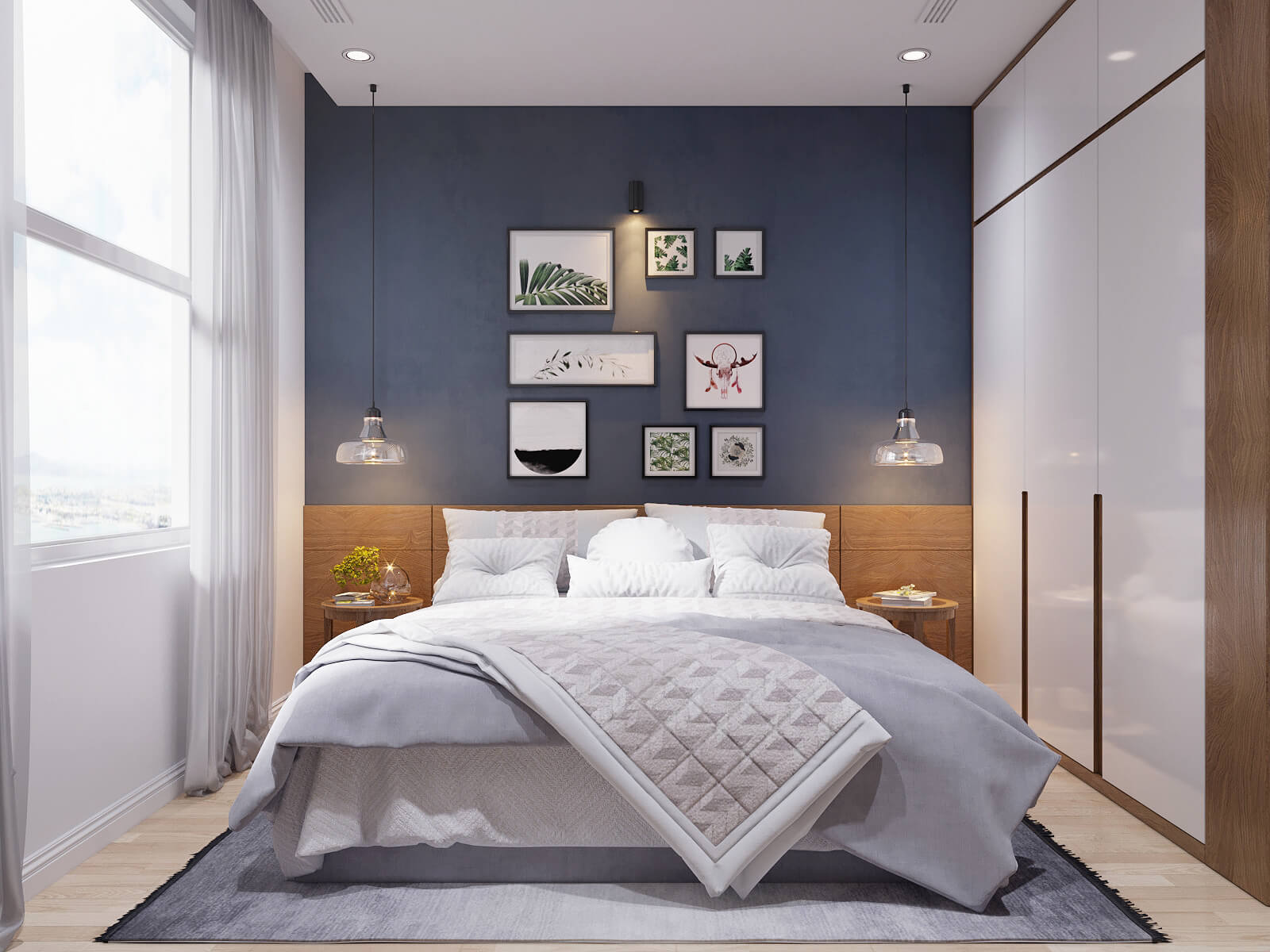 thiết kế nội thất căn hộ chung cư 70m2 6