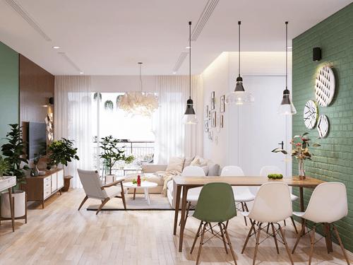 Thiết kế nội thất căn hộ chung cư 70m2 đẹp phong cách Bắc Âu