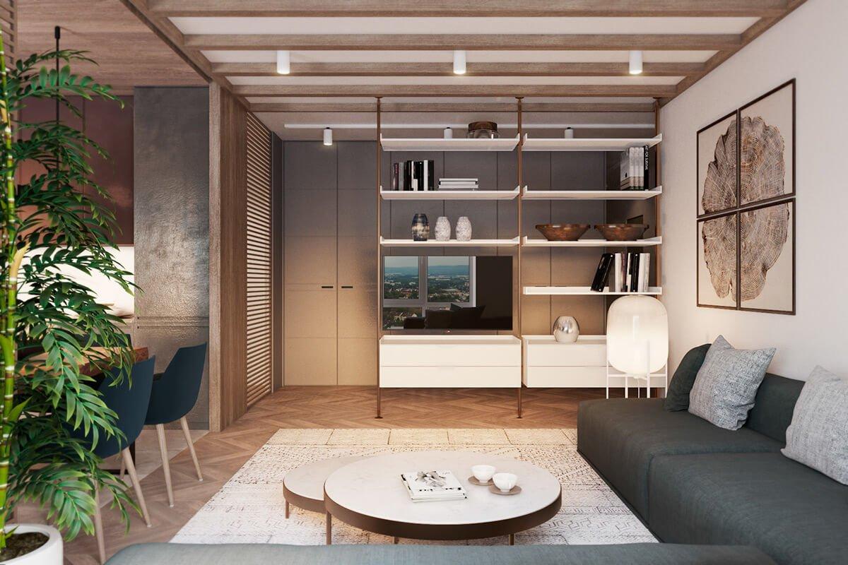 mẫu thiết kế nội thất chung cư 70m2 đẹp 1