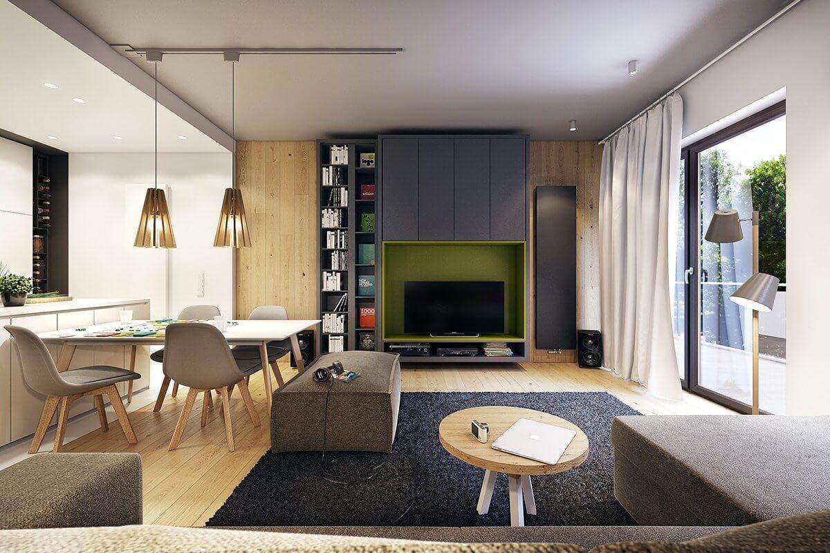 mẫu thiết kế nội thất chung cư 70m2 đẹp sang trọng 10