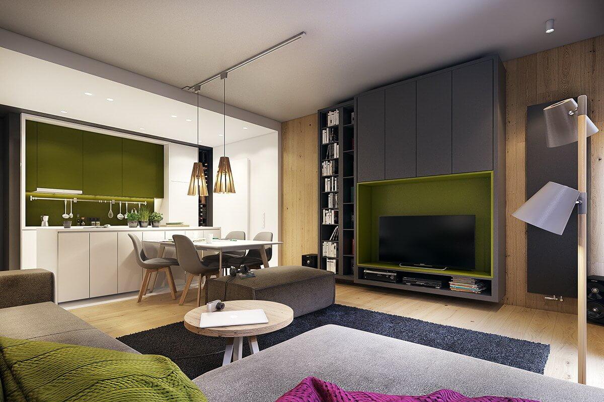 mẫu thiết kế nội thất chung cư 70m2 đẹp sang trọng 11
