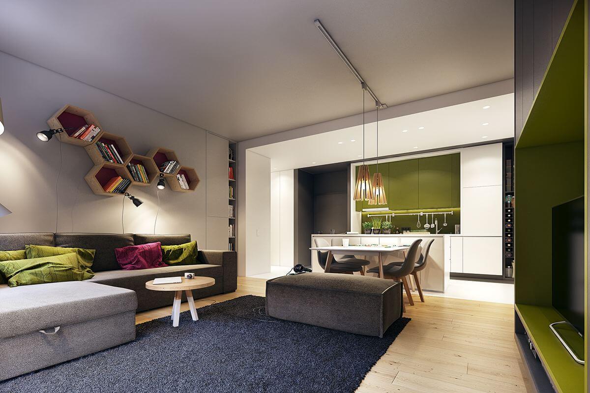 mẫu thiết kế nội thất chung cư 70m2 đẹp sang trọng 12