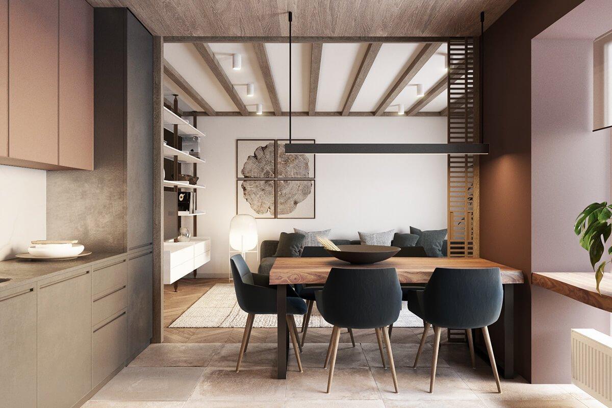 mẫu thiết kế nội thất chung cư 70m2 đẹp sang trọng 3