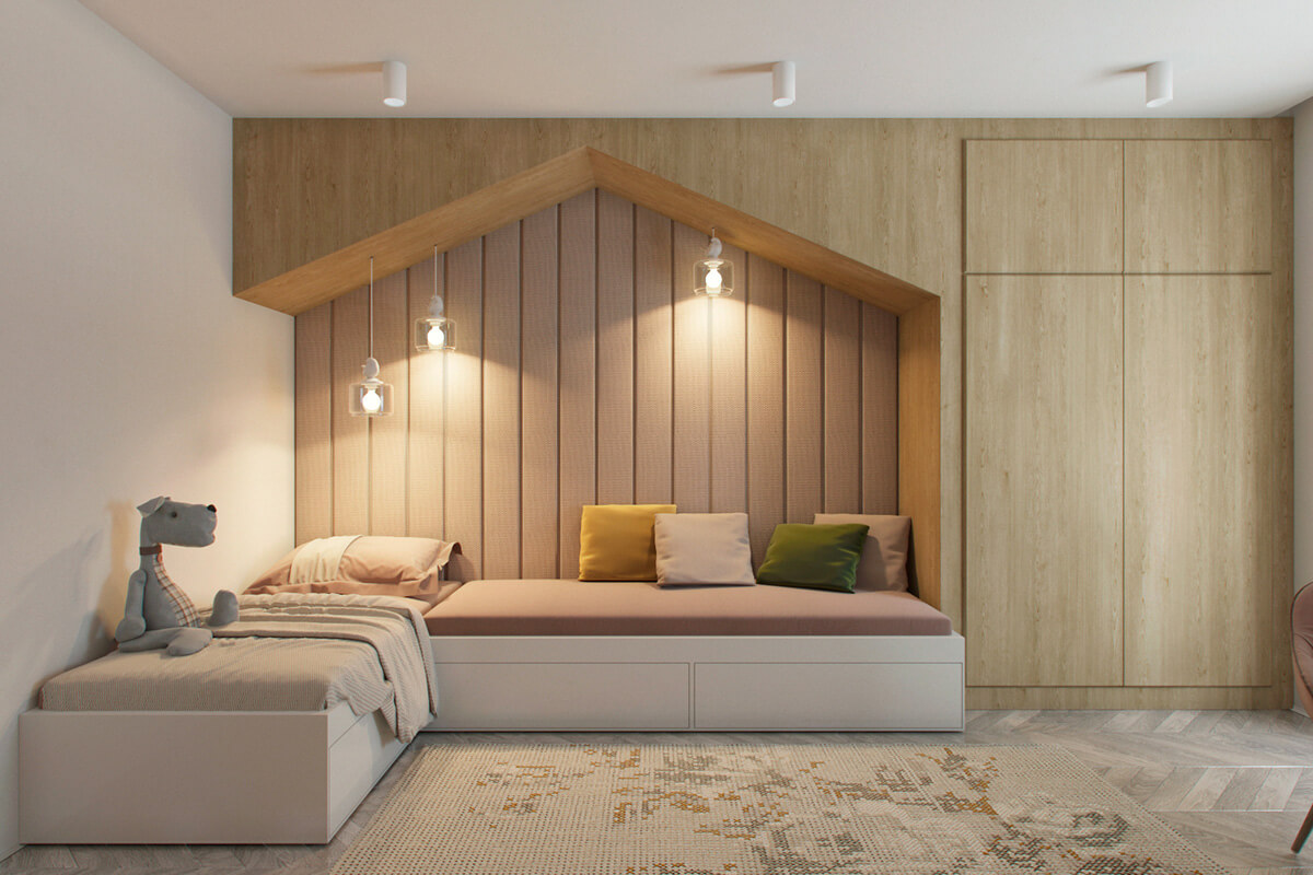 mẫu thiết kế nội thất chung cư 70m2 đẹp sang trọng 5