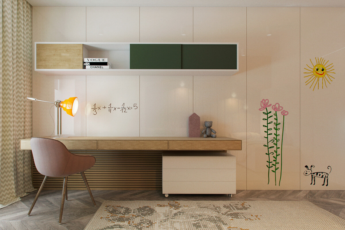 mẫu thiết kế nội thất chung cư 70m2 đẹp sang trọng 6