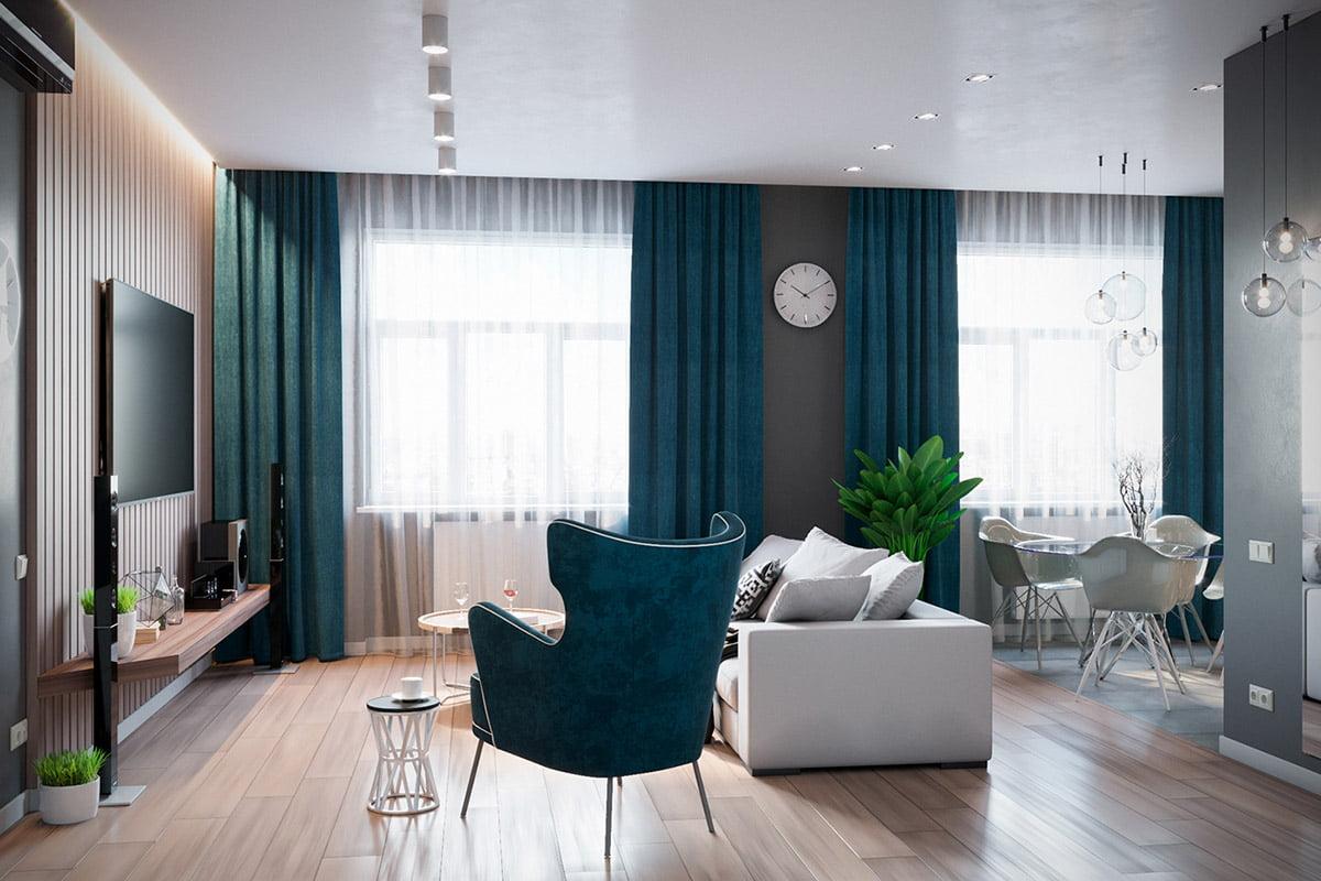 mẫu thiết kế nội thất chung cư 70m2 đẹp sang trọng