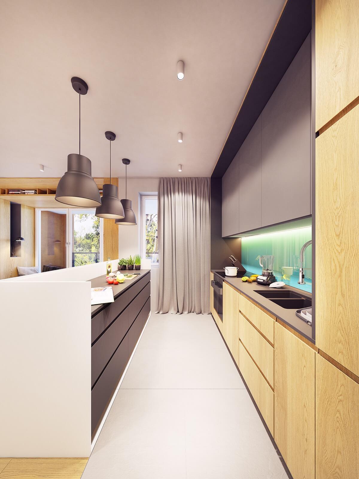 mẫu thiết kế nội thất chung cư 70m2 hiện đại sinh động 13