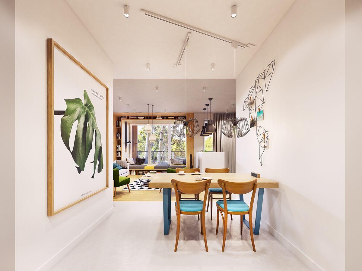 mẫu thiết kế nội thất chung cư 70m2 hiện đại sinh động 10