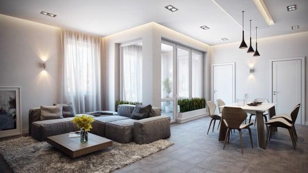 thiết kế nội thất chung cư diện tích nhỏ dưới 50m2 đẹp 1