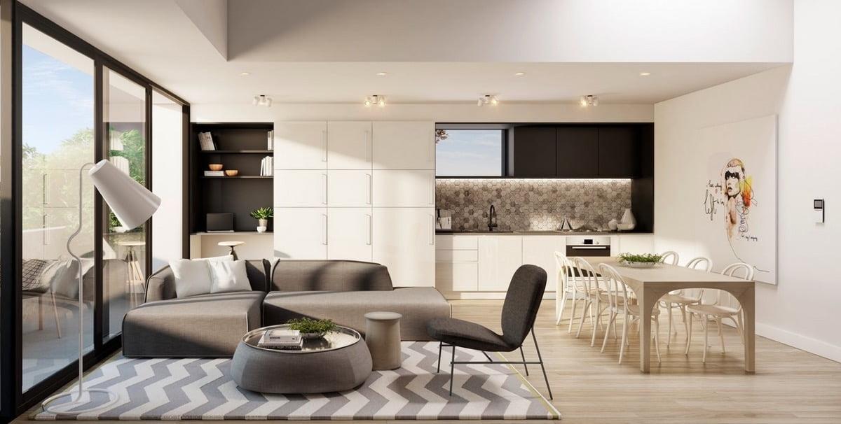 thiết kế nội thất chung cư diện tích nhỏ dưới 50m2 đẹp 5