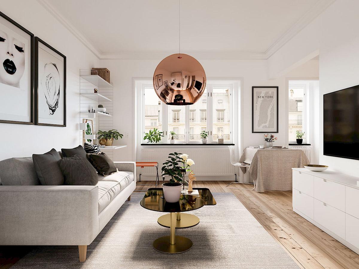 thiết kế nội thất chung cư diện tích nhỏ dưới 50m2 đẹp 8