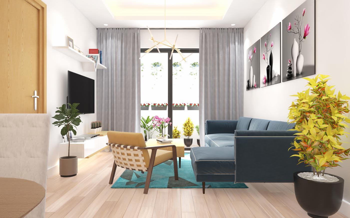 thiết kế nội thất chung cư giá rẻ 12