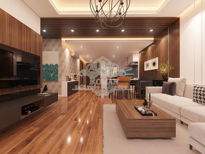thiết kế nội thất chung cư hiện đại tại quận 8